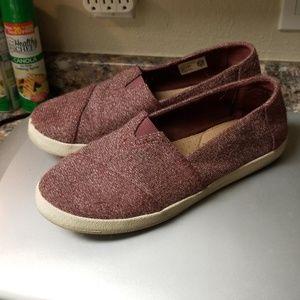 Burgundy Tom's Loafers